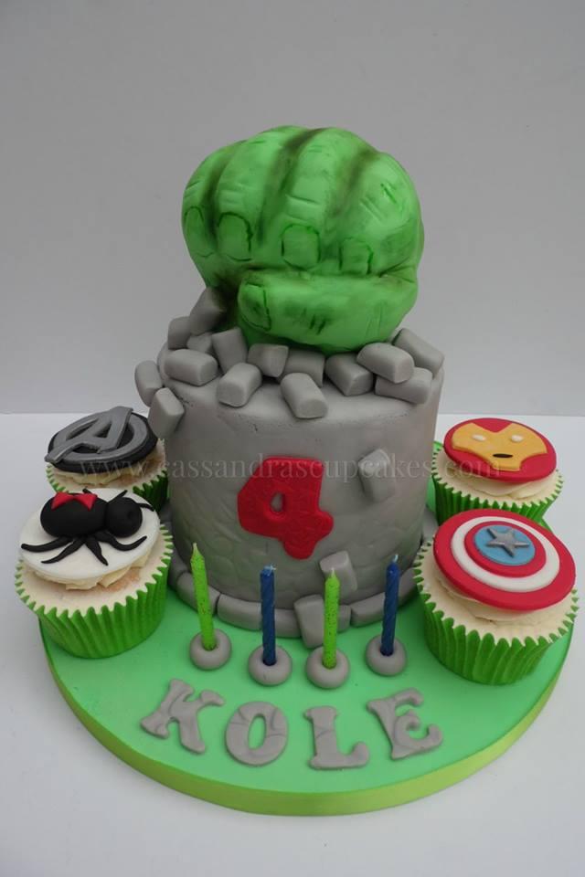 Superhero themed Cupcakes & Cake