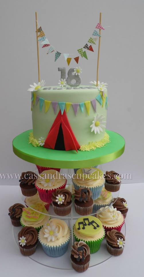 Festival Themed Cake & Cupcake Tower