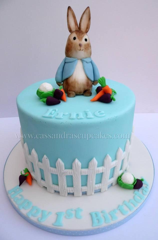 Peter Rabbit themed 1st Birthday Cake