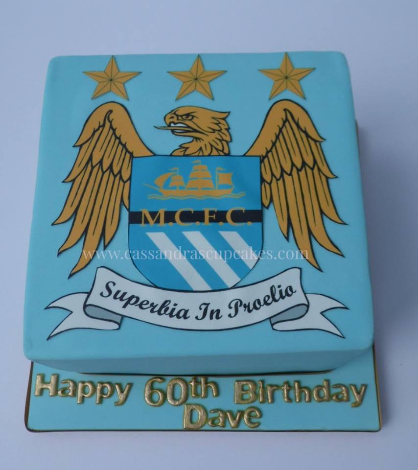 Manchester City themed 60th birthday cake