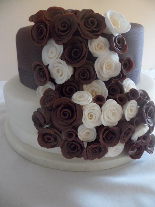 2 Tier Chocolate Wedding Cake