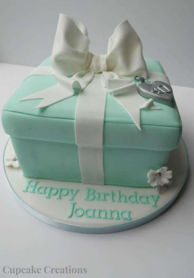 Tiffany Style Box Birthday Cake