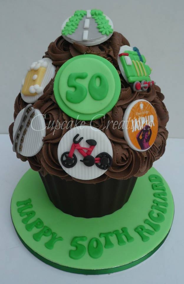 50th Giant Cupcake