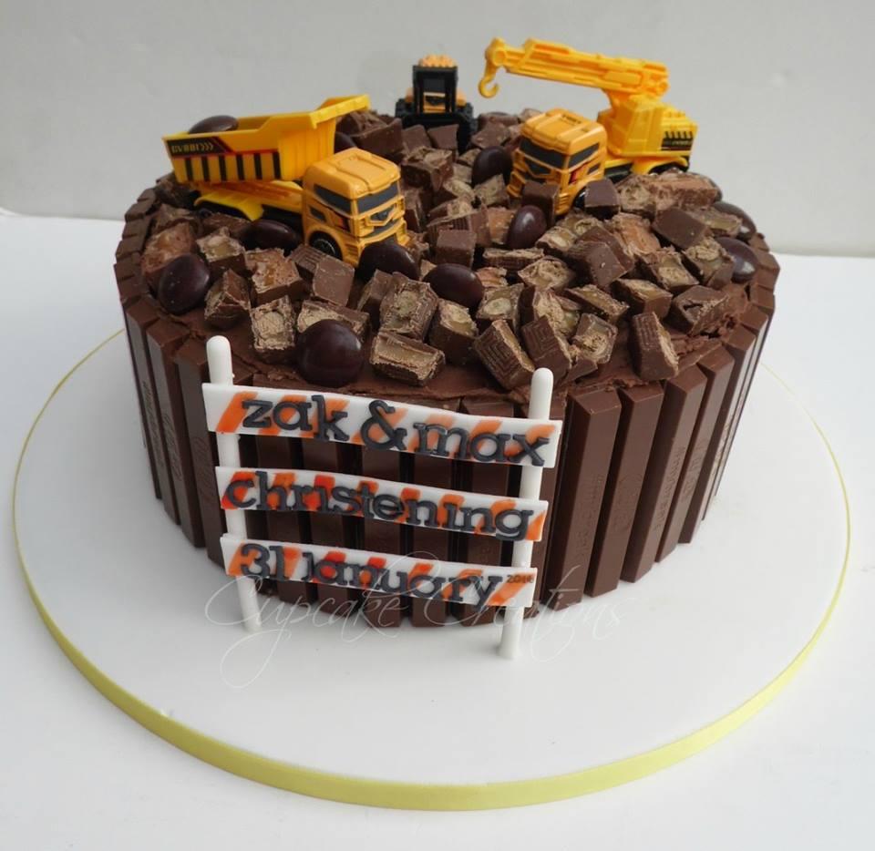 Christening Cake with Kitkat, Munchies, Minstrels - Choc Heaven!