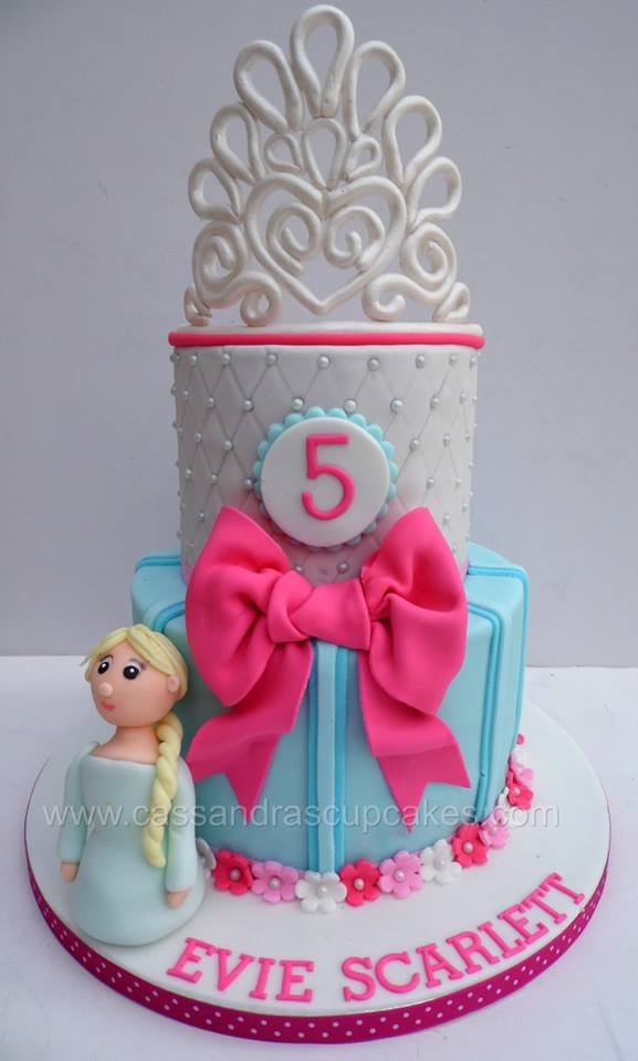 Girly 2 Tier Crown Cake