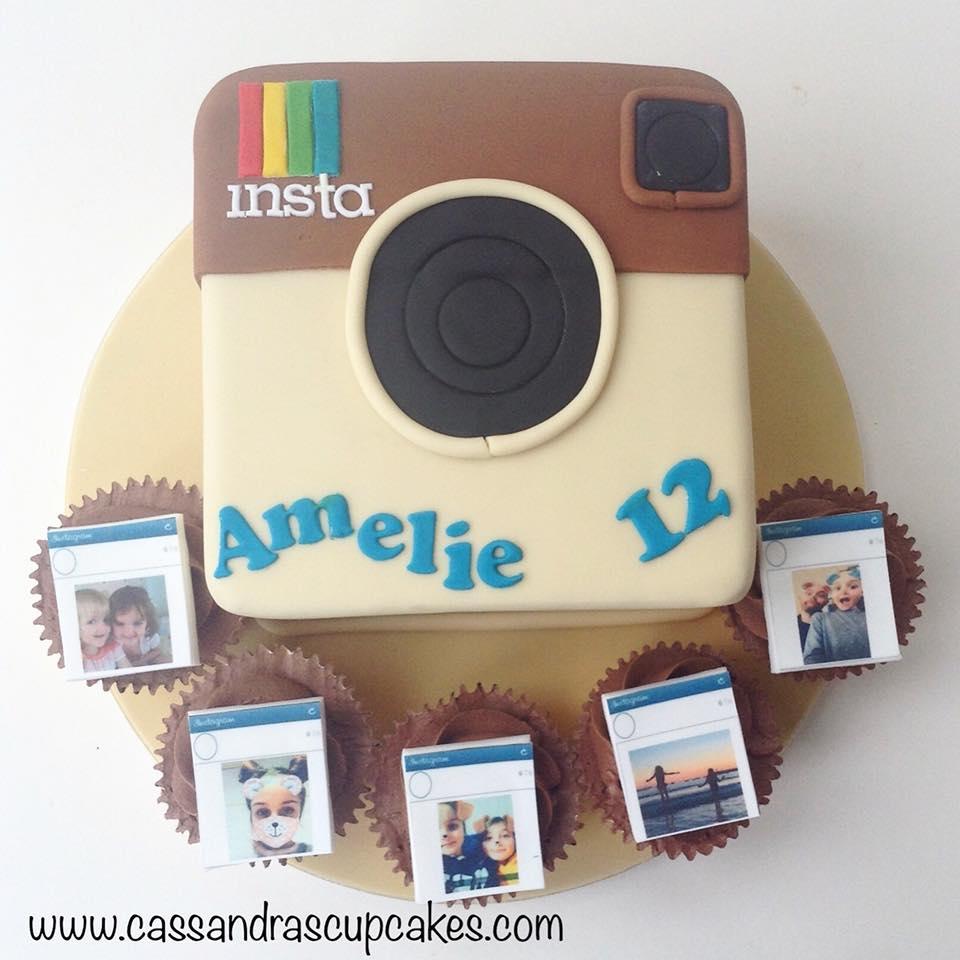 Instagram themed cake