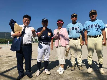 第23回長野県60歳野球大会始球式