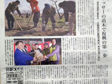 ワッサー苗木の記事が須坂新聞に掲載されました