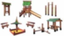 деревянные детские площади