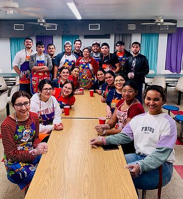 Volunteers posing in cafeteria.jpg