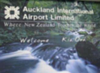 Auckland Airport - Willkommen