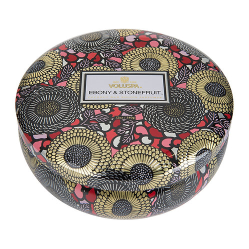 Duftkerze 3-Docht - Ebony & Stone Fruit -