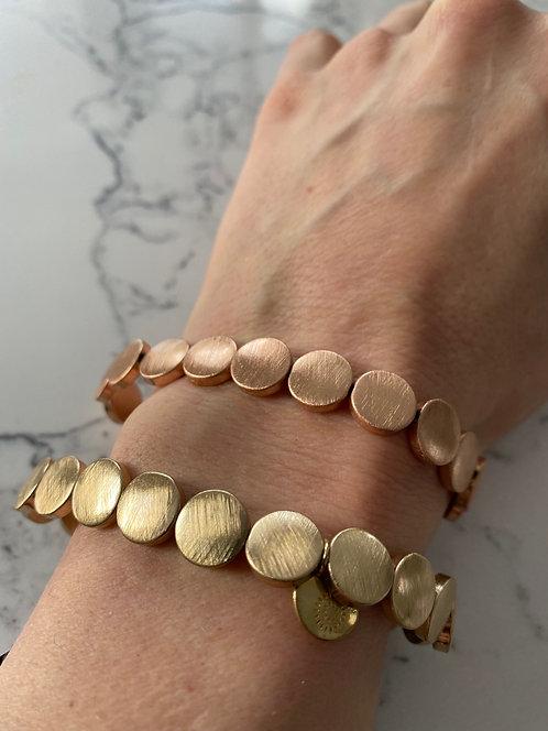 Armband Rosegold platt
