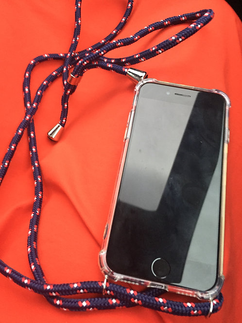 Handy Kette navy-red Iphone 10