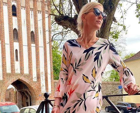 Kleid mit großem Muster