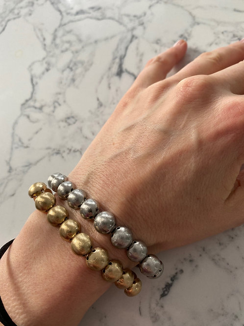 Armband Gold Kugel