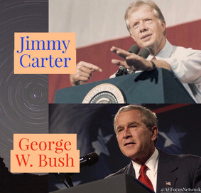 Answers: George W. Bush and Jimmy Carter