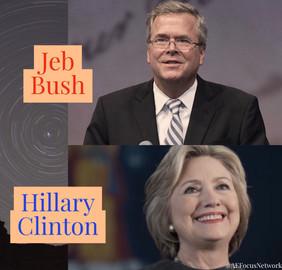 Answers: Hillary Clinton and Jeb Bush