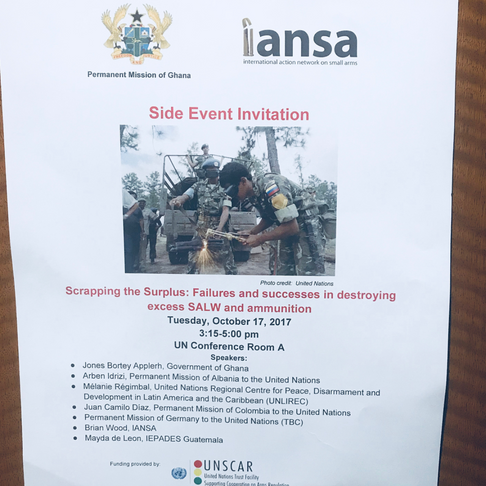 Scrapping the Surplus: IANSA Side Event