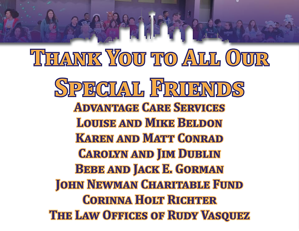 Website Thank You To All Our Friends Upd