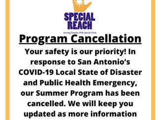 Sadly, Summer Enrichment Program is Cancelled
