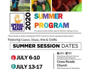 SUMMER PROGRAM POSTPONED TO JULY 6, 2020