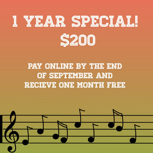 One Year Special!