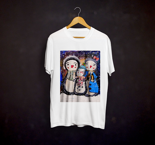 Happy's Mix Media Art T-shirt