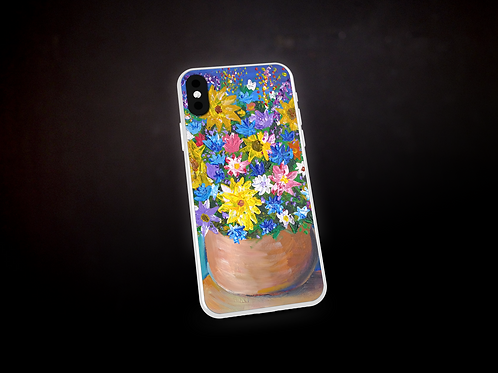 Happy's Impressionistic Flowers Phone Case