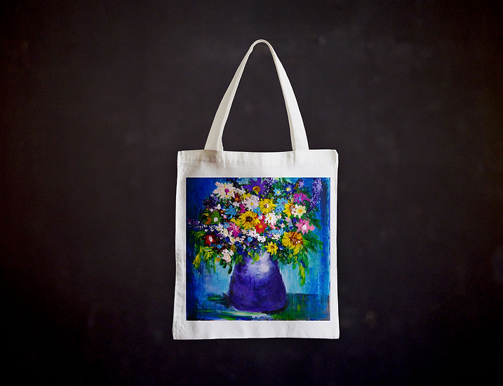 Andrea's Impressionistic Flowers Totebag