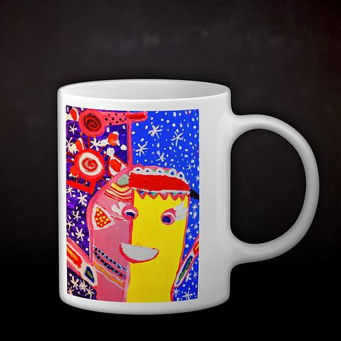 Jillian's Abstract Painting Coffee Mug