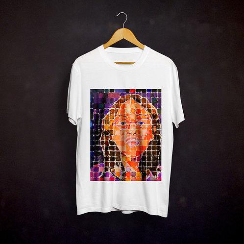 Happy's Grid-Style Self-Portrait T-shirt