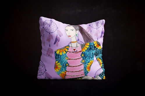 Happy's Fashion Illustration Pillow