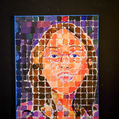 Grid-Style Self-Portrait