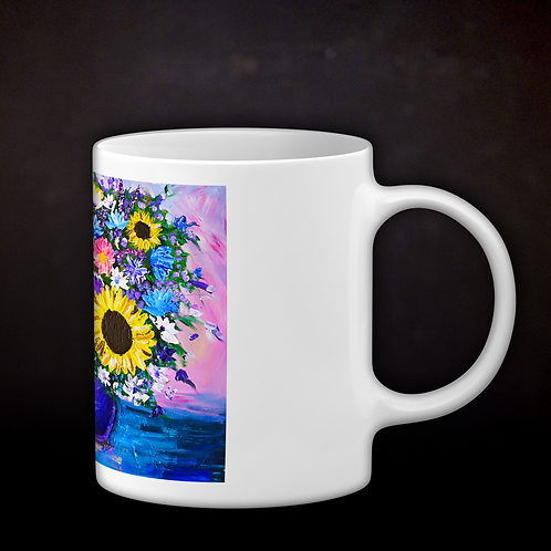 Jillian's Impressionistic Flowers Coffee Mug