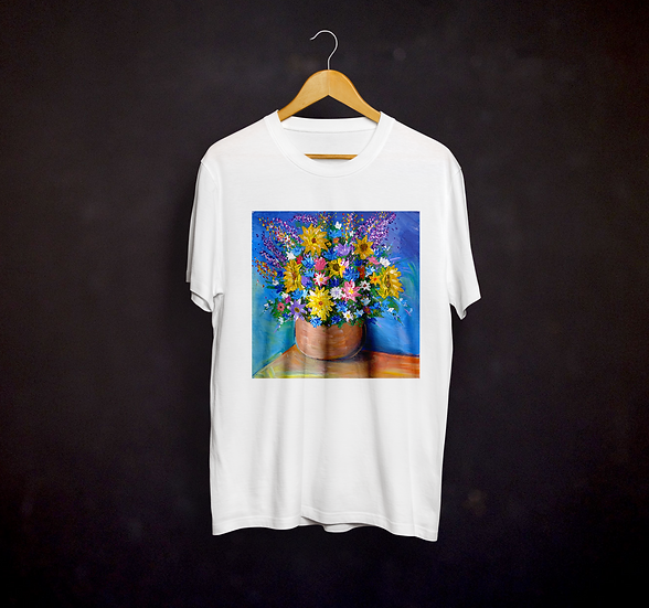 Happy's Impressionistic Flowers T-shirt