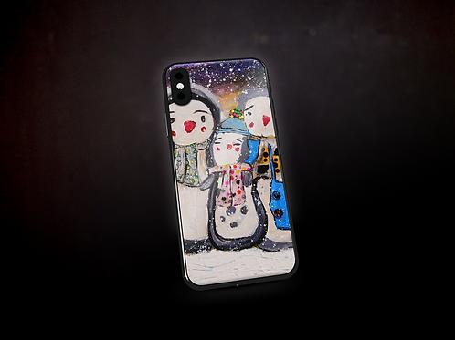 Happy's Mix Media Art Phone Case
