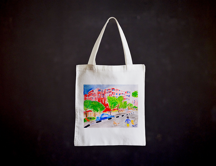 Happy's Life in a Picture Totebag