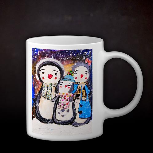 Happy's Mix Media Art Coffee Mug