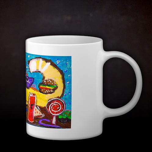 Andrea's Greedy Cat Coffee Mug