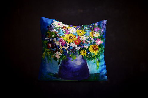 Andrea's Impressionistic Flowers Pillow