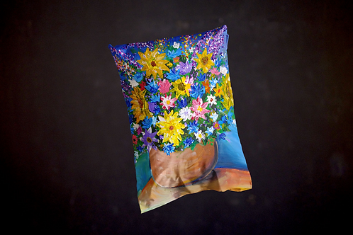 Happy's Impressionistic Flowers Pillow