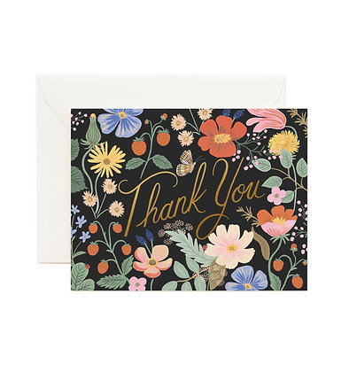 Thank You Strawberry Fields Card