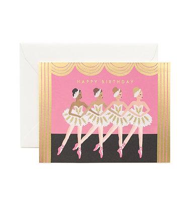 Ballerinas Birthday Card
