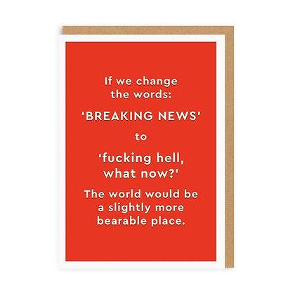 Breaking News Card