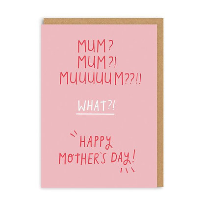 Muuuuuum? Mother's Day Card