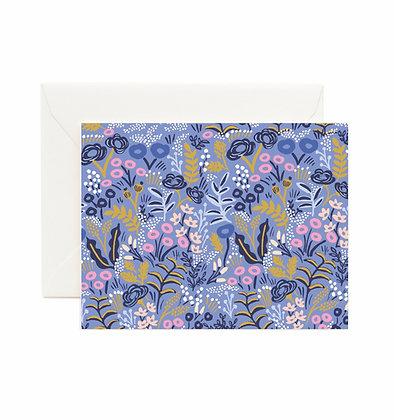 Tapestry Cobalt Card