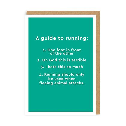 Guide To Running Card