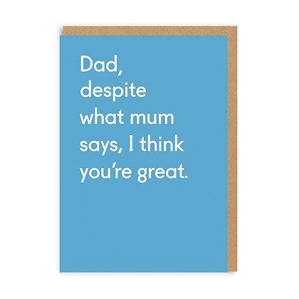 Despite What Mum Thinks Cards