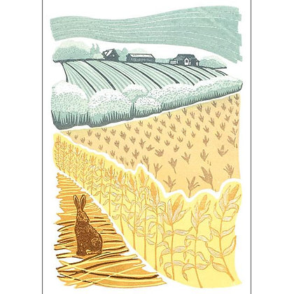 Over the Cornfield Card